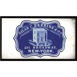 Silas C. Herring & Co. Cameo Business Card, ca.1860-70's