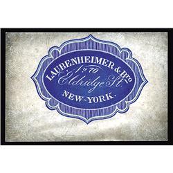 Laubenheimer & Bro. Cameo Business and Corner Card, ca.1860-70's