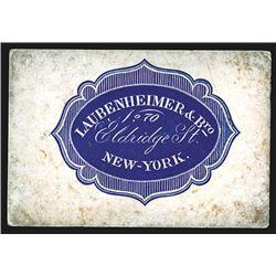 Laubenheimer & Bro. Business Card, ca.1855-70's