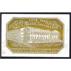 Glen Cove Pavilion, Cameo Business Card, ca.1860-80's