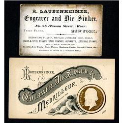 R. Laubenheimer Business Card, ca.1858-80's
