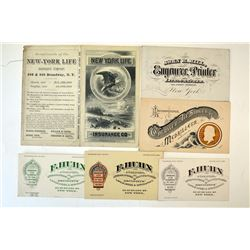 Political flier and Business Cards By Security Printers, ca.1870-90's.