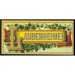 Laubenheimer Cigar Box Label, ca.1880-90's