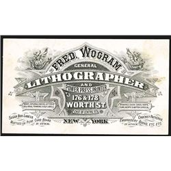 Lithographer Business Card, ca.1880-1900