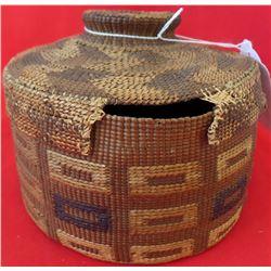Tlingit Rattle Top Basket