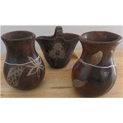 Three Santa Clara Pottery Items