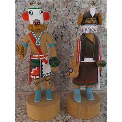 Two Miniature Hopi Kachinas