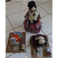 Three Navajo Dolls