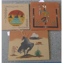 Three Navajo Sand Paintings