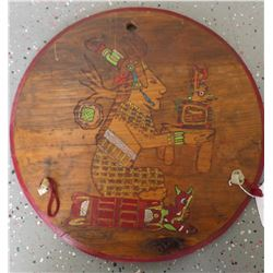 Mayan Style Wood Plaque