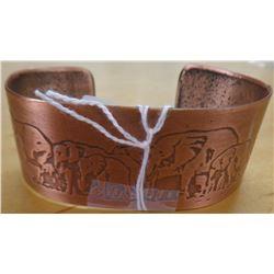 Signed Copper Cuff Bracelet