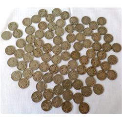 Group of Buffalo Nickels (87)