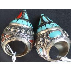 Two Large Tibetan Rings