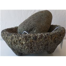 Stone Mortar and Pestle