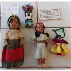 Four Southwest Dolls