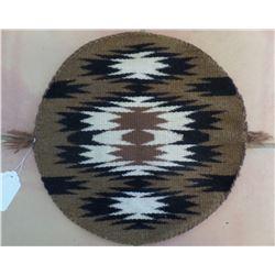 Rare Round Navajo Weaving