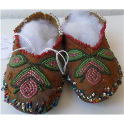 Beaded Childs Moccasins