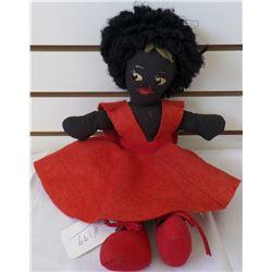 Large Black Americana Cloth Rag doll