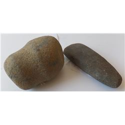 Grooved Stone Maul and Stone Celt