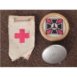 3 NAZI ITEMS-WEHRMACHT MARKED ASSMANN--VETERANS PIN