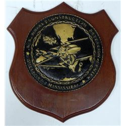 US NAVAL CONSTRUCTION BATTALION CENTER PLAQUE-GULFPORT