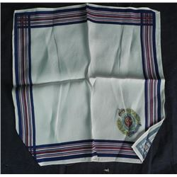 WWII BRITISH ROYAL ENGINEER SWEETHEART HANKIE-RAYON-12""