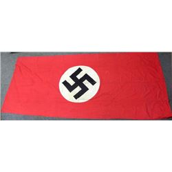 "LARGE ORIGINAL NAZI PARTY BANNER--112X48""--DOUBLE SIDED"