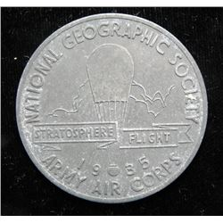 Historic 1935 National Geographic Medal - Army Air Corp