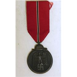 ORIGINAL NAZI RUSSIAN FRONT MEDAL & RIBBON-1941/42