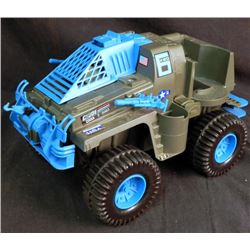 LARGE VINTAGE GI JOE BATTLE WAGON & M-LAUNCHER WORKS