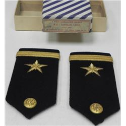 1 PAIR NAVY SHOULDER BOARDS W/ENSIGN LINE-ORIG BOX