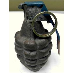 WWII U.S. PINEAPPLE HAND GRENADE-WITH FUZE-INERT