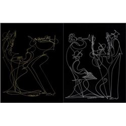Sir Shadow: Jazz Musicians Double Sided Drawing 2005