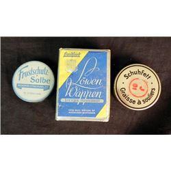 WWII German Cigarettes and Tobacco Cans