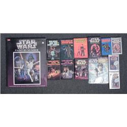 18 Pc Star Wars Lot Books, Audio Paint by Number