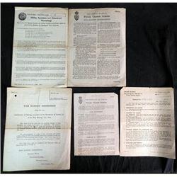 "1941 BRITISH ""WAR DAMAGE ACT"" REPORTS GOVT REPAYMENTS"