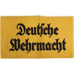 """NAZI """"DEUTSCHE WEHRMACHT"""" ARMBAND--ORIGINAL"""