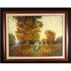 Tienhaara Large Original Oil Painting Hilltop Landscape