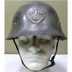 Original WWII Swedish M/21-16 Helmet w/Liner Chinstrap