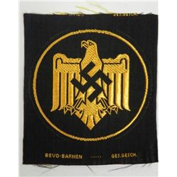 NAZI WEHRMACHT SPORTS EAGLE PATCH-EMBROIDERED ORIGINAL