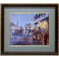 Mort Kunstler Civil War Frmd Print Gen. Lee Mills House