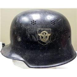 WWII Nazi German Police Helmet Double Decal