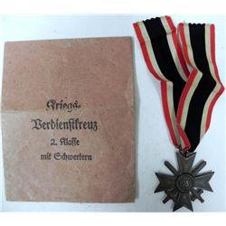 NAZI WAR MERIT CROSS WITH SWORDS-2ND CLASS