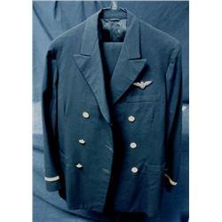 WWII NAVY PILOT UNIFORM + PANTS - OFFICER PILOT'S EAGLE