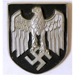 NAZI AFRIKA KORPS PITH HELMET SHIELD-ORIGINAL