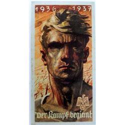 ORIG NAZI WAR-TIME HANDBILL ARTWORK DER KAMPF BEGINNT