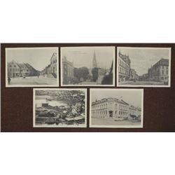 5 PHOTOS OF POST-WAR SCHLEISWIG GERMANY-GERMAN WRITTEN