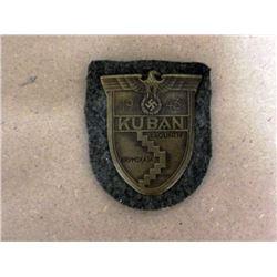 NAZI KUBAN SHIELD-ORIGINAL-MINT CONDITION