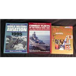 3 Military HC Books Aviation, Combat Fleets, 20th Cent.