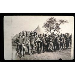 EARLY MILITARY PHOTO OF GI'S WAITING IN CHOW LINE